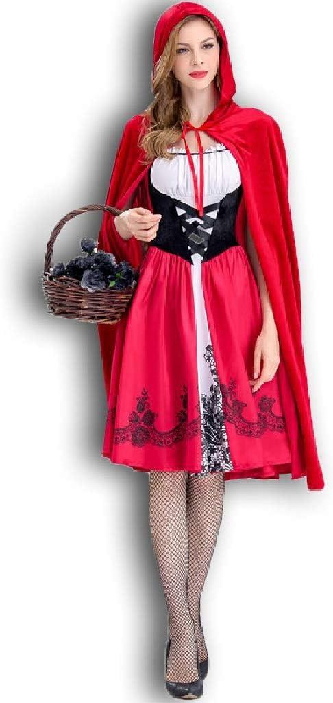 TcooLPE Disfraz de Caperucita Roja for Mujer Fiesta de Navidad de ...