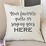 Personalized Throw Pillow - Pillow with Custom Quote- Customized Throw Pillow- Personalized Wedding Gift- Personalized Message Pillow