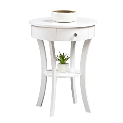 Convenience Concepts 501052W Classic Accents Schaffer End Table, White