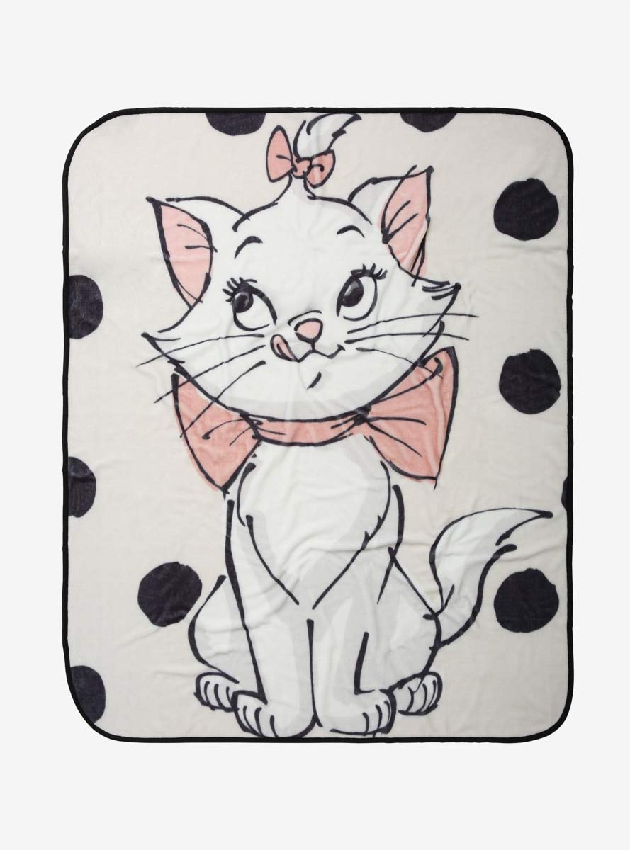 Hot Topic Disney The Aristocats Marie Polka Dots Plush Throw Blanket by Hot Topic