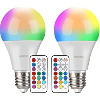 Bombilla LED Colores (2 Pack), OMERIL RGBW Bombilla