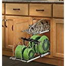 Rev-A-Shelf - 5CW2-1222-CR - 12 in. Pull-Out 2-Tier Base Cabinet Cookware Organizer