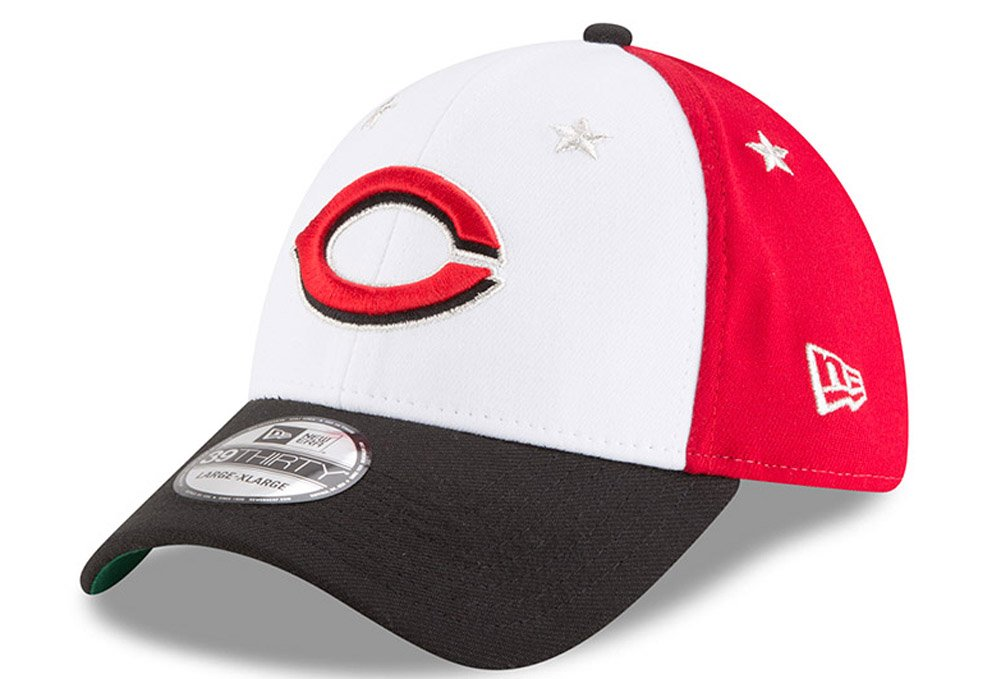 Amazon.com   New Era Cincinnati Reds 2018 MLB All-Star Game 39THIRTY Flex  Hat - White b2cebc3758f