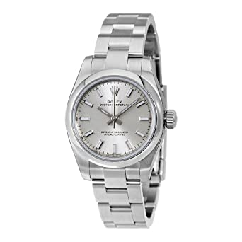 sale retailer d1b94 898b3 Amazon | Rolex Oyster Perpetual Date Silver Dialステンレス ...