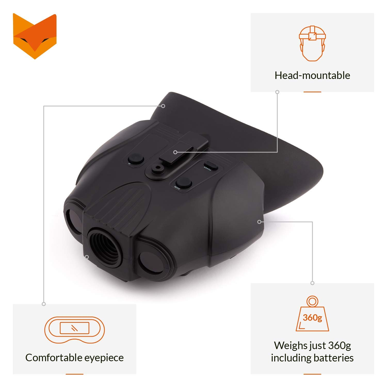 2+ Night vision goggles NV//G-14 Professional Light and comfortable