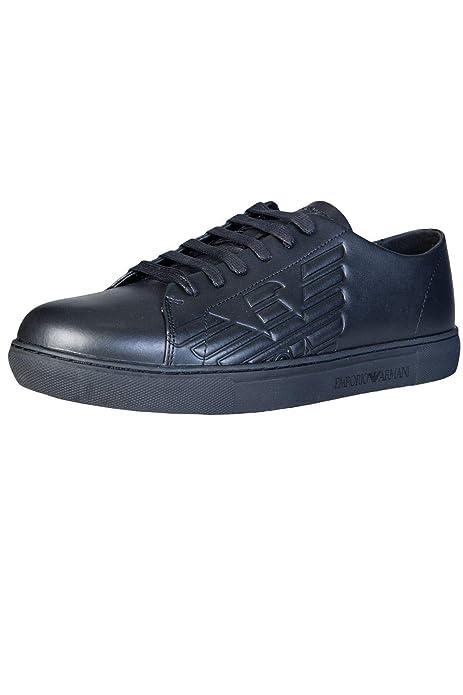 EMPORIO ARMANI Remo Zapatillas Moda Hombres Negro - 41 - Zapatillas Bajas: Amazon.es: Zapatos y complementos