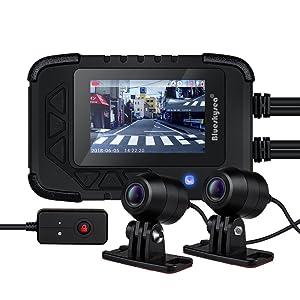 "Blueskysea DV688 Motorcycle Dash Cam 1080p Dual Lens Motorcycle Recording Camera 2.35"" LCD IP67 Waterproof Screen 130 Degree Angle Night Vision Latest Version"