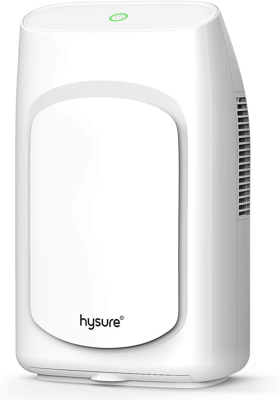 hysure Quiet and Portable Dehumidifier Electric, Deshumidificador, Safe Dehumidifier for Basement,Bathroom, Home,RV, Bedroom, Baby Room (2000ml)
