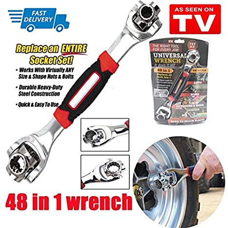 48 Tools In One Socket Multifunctional Wrench Rubber Handle with Spline Bolts Home and Auto Repair ht005918