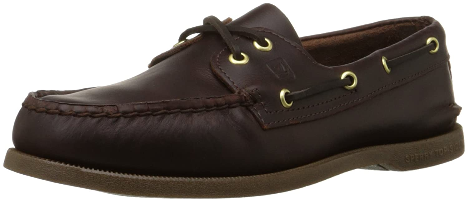 Herren A/O 2-Eye Boat Schuhe, Schwarz/Amaretto, 8 W US Sperry Top-Sider
