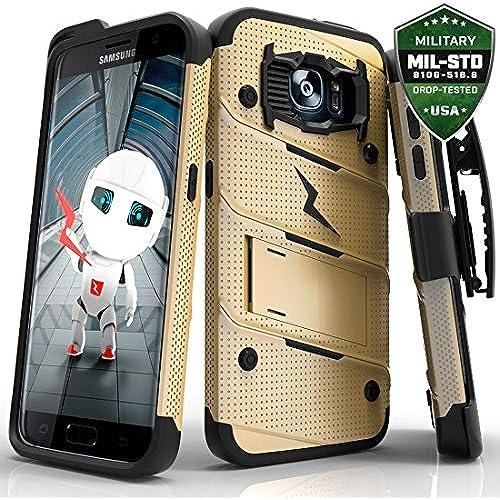 Samsung Galaxy S7 Edge Case, Zizo [Bolt Series] w/ FREE [Galaxy S7 Edge Holster Belt Clip] [Military Grade Drop Sales