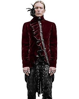 Männer Gothic Fashion Leder Mode PU Braun Devil Graben I76vYbyfgm