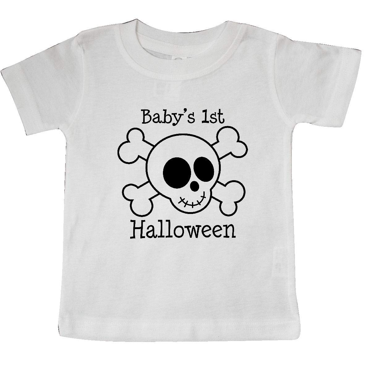 inktastic Babys 1st Halloween Skull Baby T-Shirt