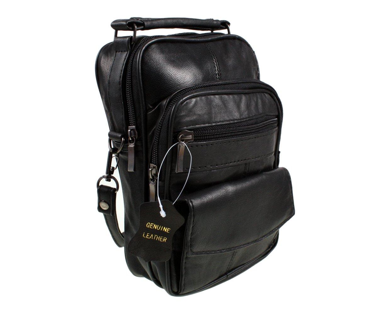 Black Real Leather Shoulder Bag