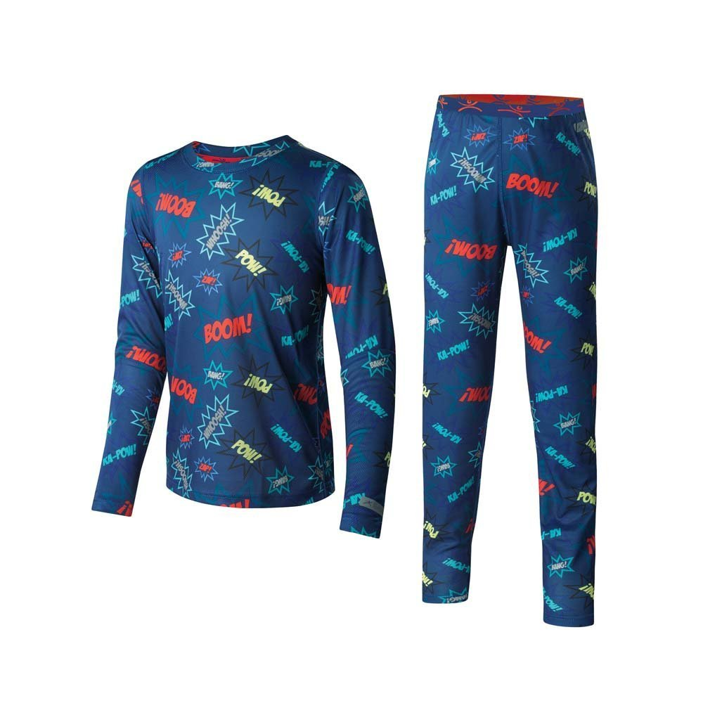 Terramar Kid's 1.0 Power Play Two Piece Set, Love Print, Large