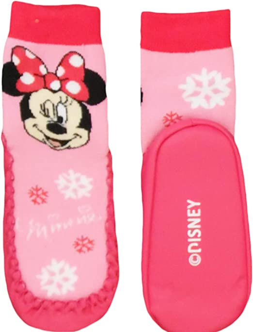 Disney Chaussons Chausettes Minnie Fille 25//26, Rose