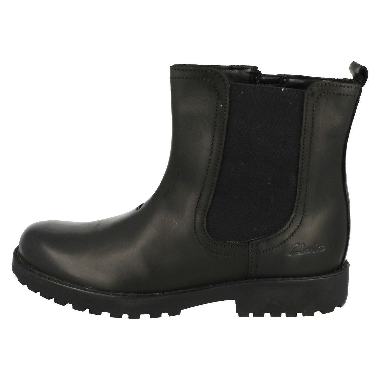 0c315f5d386850 Clarks Girls  Rhea Amber Jnr Chelsea Boots  Amazon.co.uk  Shoes   Bags