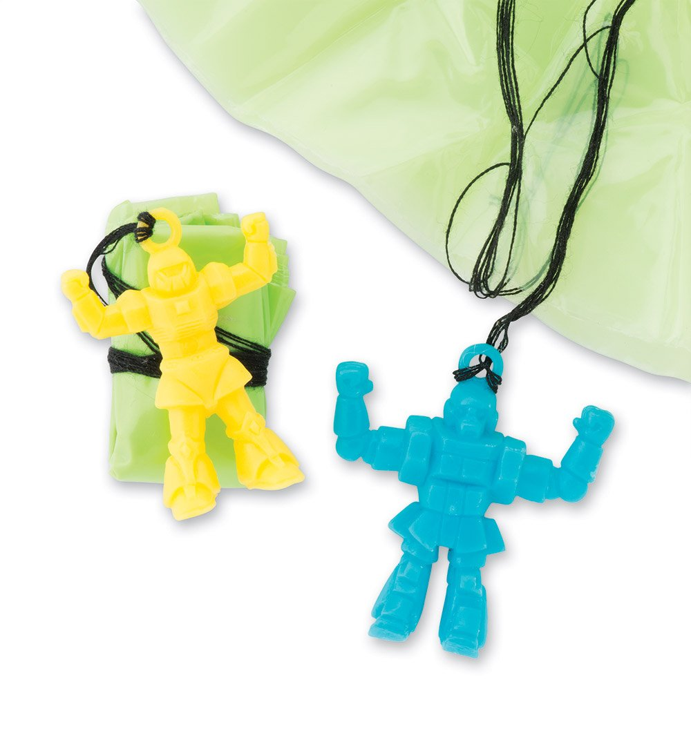 Smile Makers Robot Paratroopers - Toy Giveaways - 48 per pack