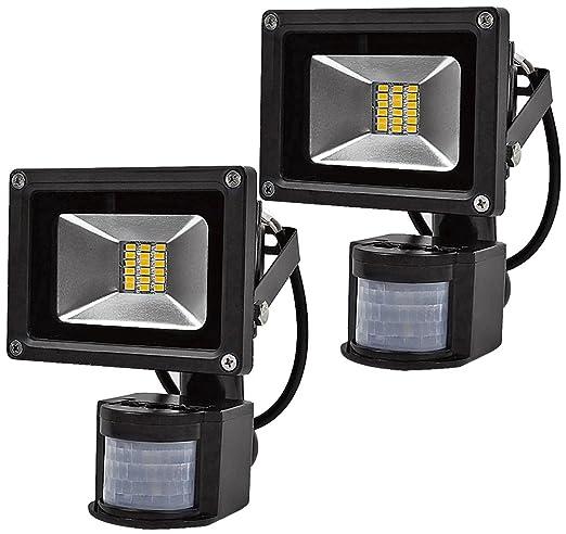 2X 20W Foco SMD LED con Sensor Movimiento,Proyector LED Exterior ...
