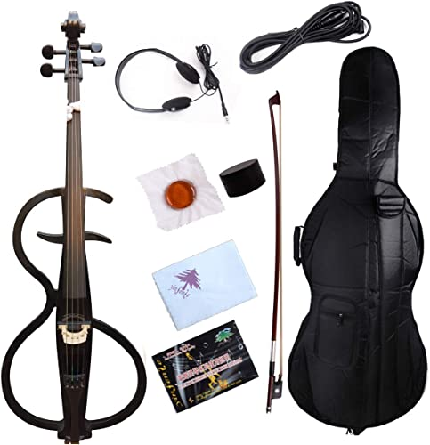 Yinfente Electric Cello 4/4 Full Size Solid wood Violincello