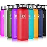 Stainless Steel Water Bottle Vacuum Insulated, Double Walled, Leak Proof Cap and Built-in Filter| Food Grade Wide Mouth Coffee Mug for Travel Camping Outdoor Sports, Keeps Drink Hot & Cold