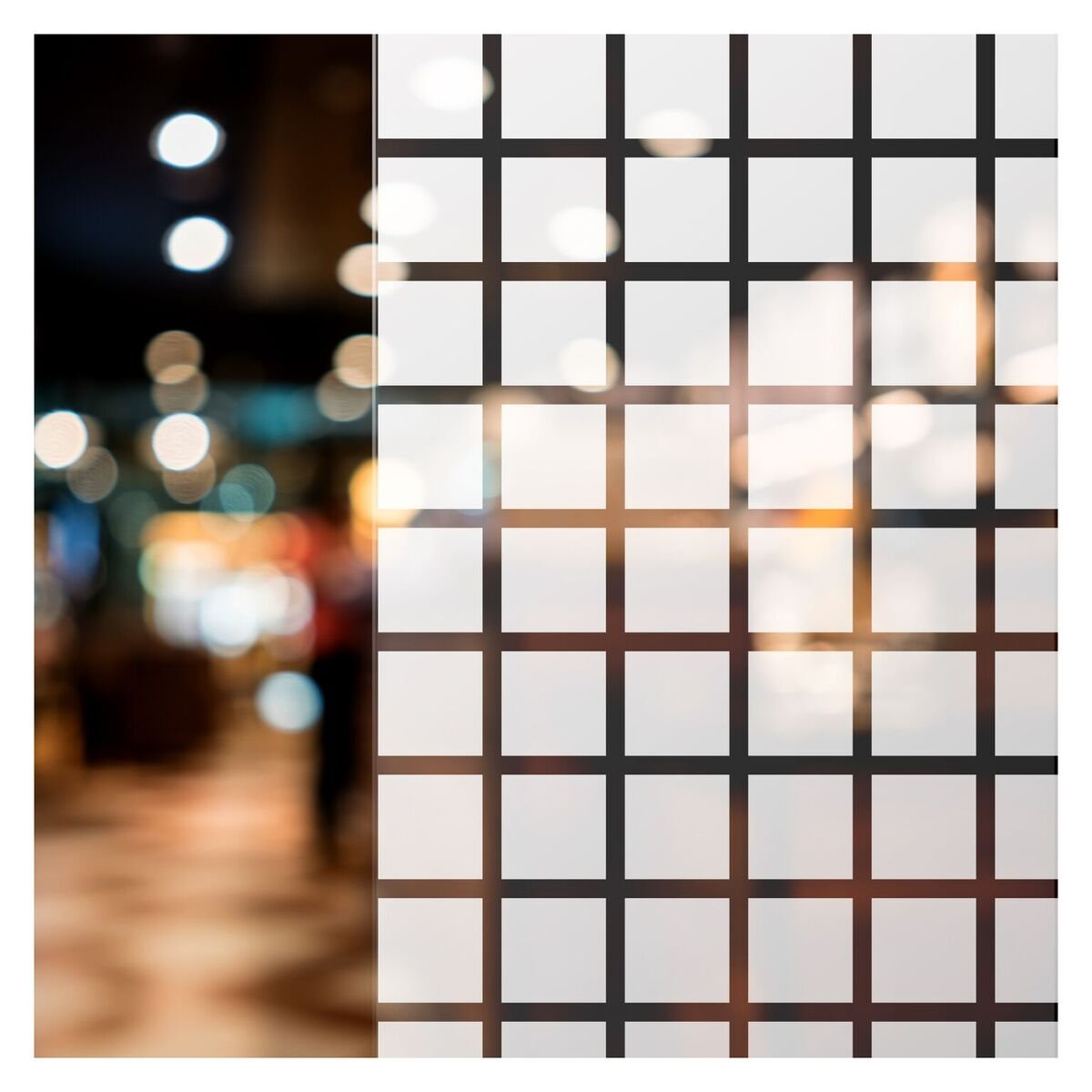 BdF BBLウィンドウフィルム太字ブロック装飾( 1 3 / 8インチホワイト正方形) 12