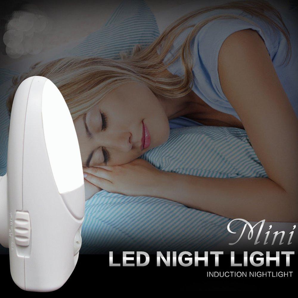 luanman LED夜間ライト1 W自動的には、ソフトライトa021 ホワイト A021-4 B07793PZBV 12413 White 4pcs White 4pcs