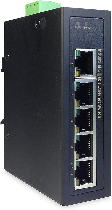 DIGITUS Conmutador Industrial Gigabit de 5 Puertos.