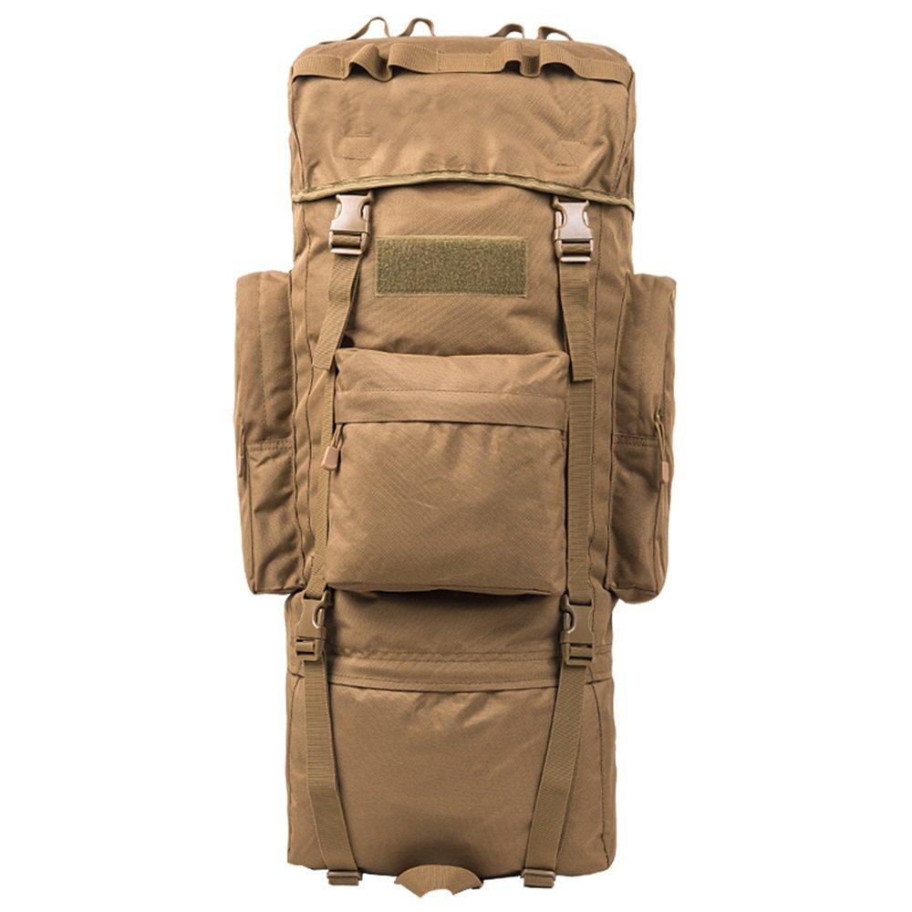 龙飞@ アウトドア登山バッグショルダー男性と女性の大容量旅行バッグハイキングバッグリュックサック男性荷物袋カーキ 100L  B07JGT38S7