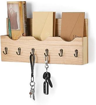 Solid Dark Wood Wooden Letter Post Rack Tidy Holder Chalk Memo Notice Board Tidy