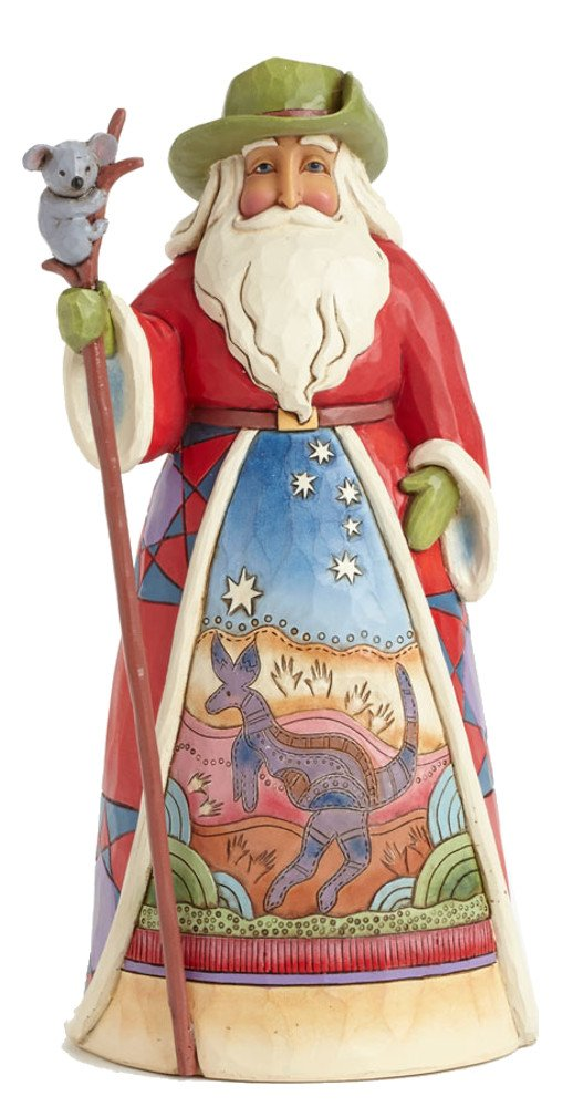 Jim Shore for Enesco Heartwood Creek Australian Santa Figurine, 7-Inch by Jim Shore for Enesco