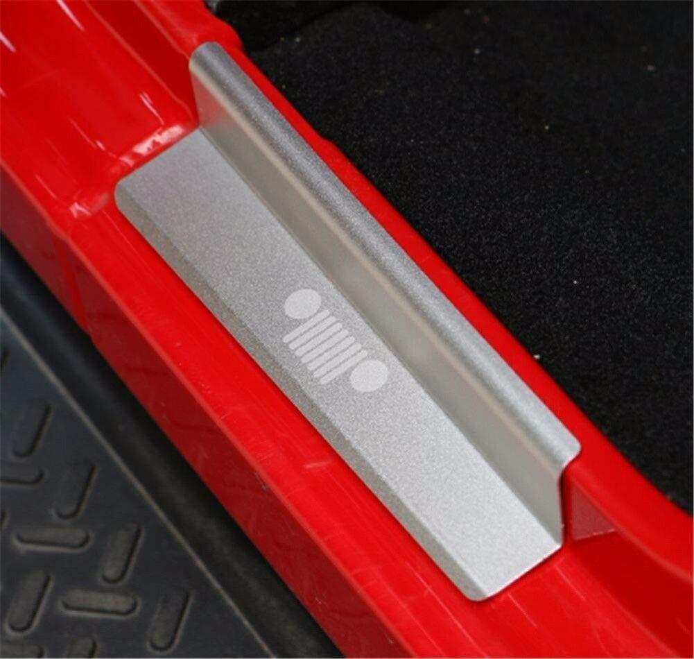 FidgetGear Protector de Placa de aleaci/ón de Aluminio para Jeep Wrangler JK 4DR 2007-2018 Color Plateado