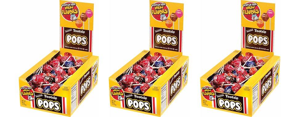 Tootsie Roll Tootsie Pops, Assorted Flavors BGUzdLN, 100 Count (3 Pack)