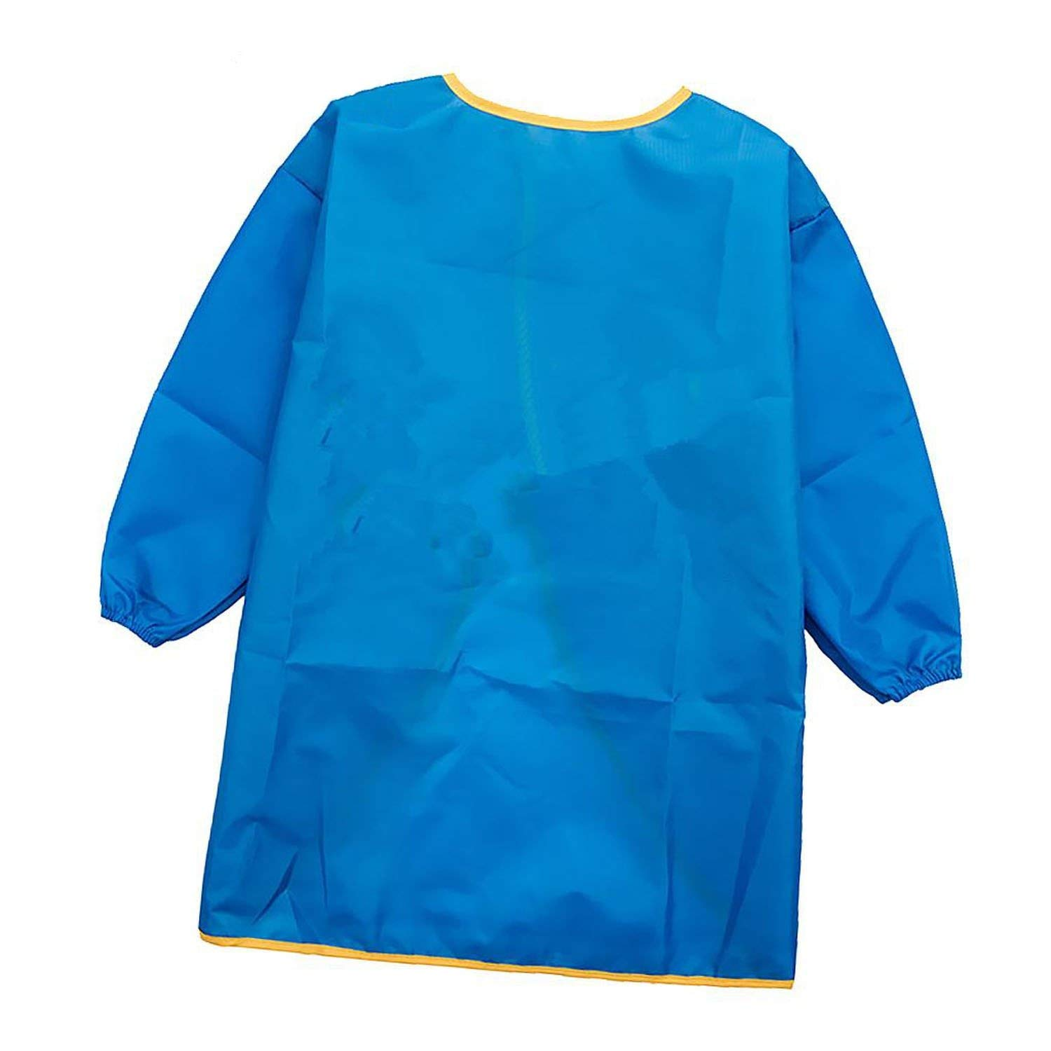 WBeauty Kids Apron Drawing Painting Waterproof Smock Polyester Fiber Waterproof Fabric,S Blue