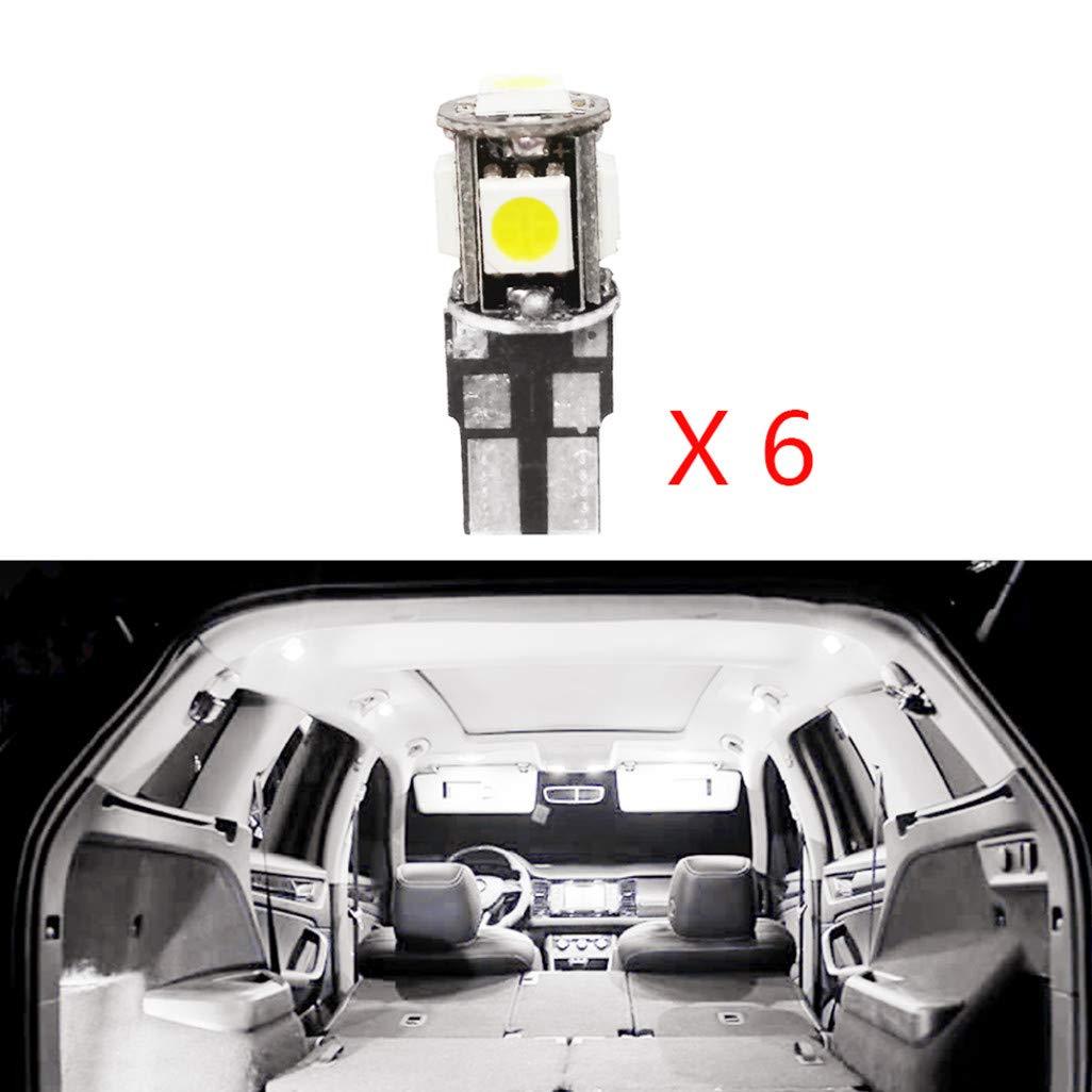 Pour XC60 2010-2015 LED Lampe Ampoules Blanc Wedge Int/érieur De Voiture Lumi/ère D/ôme Feux De Plaque Dimmatriculation Canbus Anti Erreur 12V Pas De Polarit/é Con/çu 8 Pi/èce