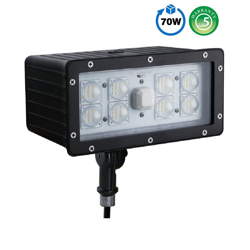 1000LED LED Flood Light High Lumens 70W 8,050Lm Daylight 5000K AC110-277V Waterproof IP65 UL DLC Listed for Wall Light Security Backyard Area by 1000LED