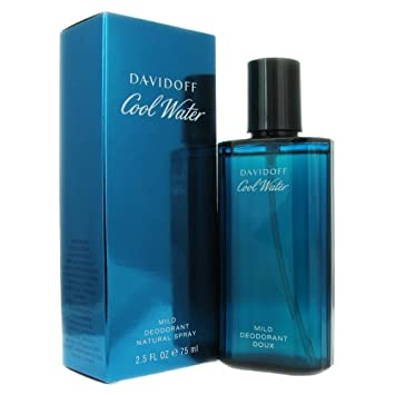 Davidoff Cool Water Mild Deodorant Spray for Men, 2.5 Ounce