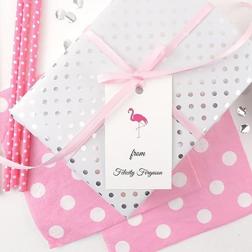 Flamingo Gift Tags Personalized Custom Birthday