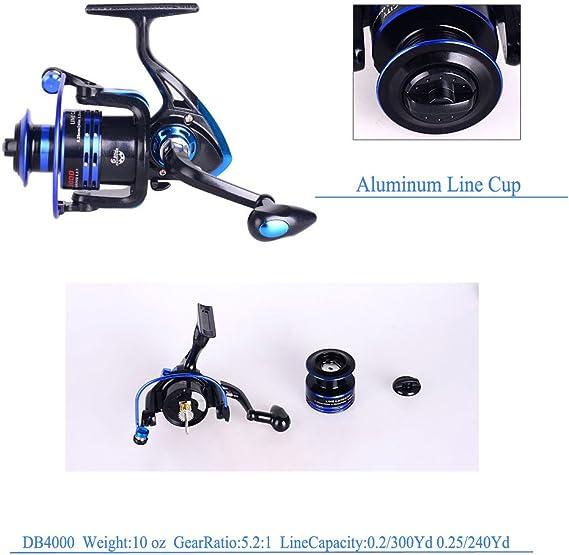 Himenlens B30 débutant Leisure Spinning Canne à pêche et