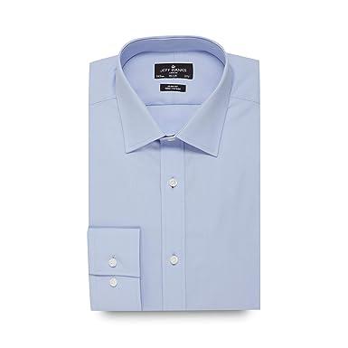 786cdc5c Jeff Banks Men Big and Tall Blue Poplin Slim Fit Shirt 20: Jeff Banks:  Amazon.co.uk: Clothing