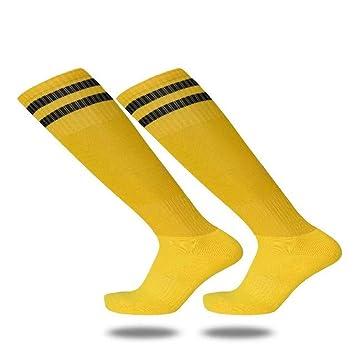 Slip Socks, Toalla Abajo, Futbol Medias, Medias Y Calcetines Finos,Amarillo,Código Uniforme: Amazon.es: Deportes y aire libre
