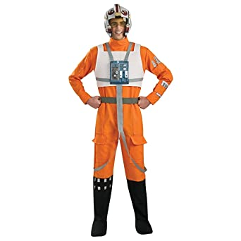 スターウォーズ コスプレ コスチューム Xウィング 戦闘服 パイロット服 オレンジ 大人 男性用 仮装 衣装