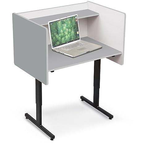 Amazon.com: Laminado Estudio Carrel computadora, otro, gris ...