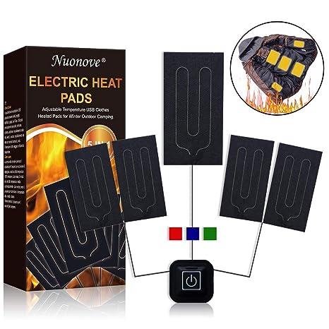 Almohadilla Eléctrica, Almohadilla Termica, Térmico USB Almohadilla, 5 V 2 A Cojín de Calefacción Eléctrica para Ropa Temperatura Ajustable, con 3 ...