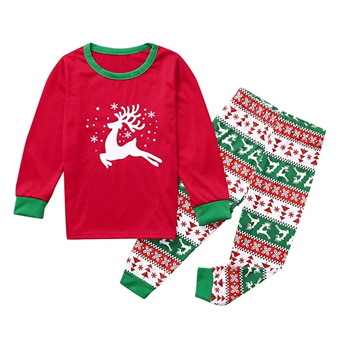 Conjunto De Pijama Camiseta Top Pantalones Chica Niño Raya ...