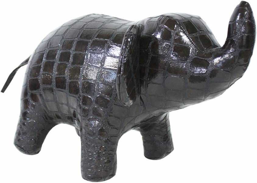 Hippo-Starr Elephant Designer Toy Unique Gift and Living Dining Room Office Decor idea Color Brown Caiman 91-5179