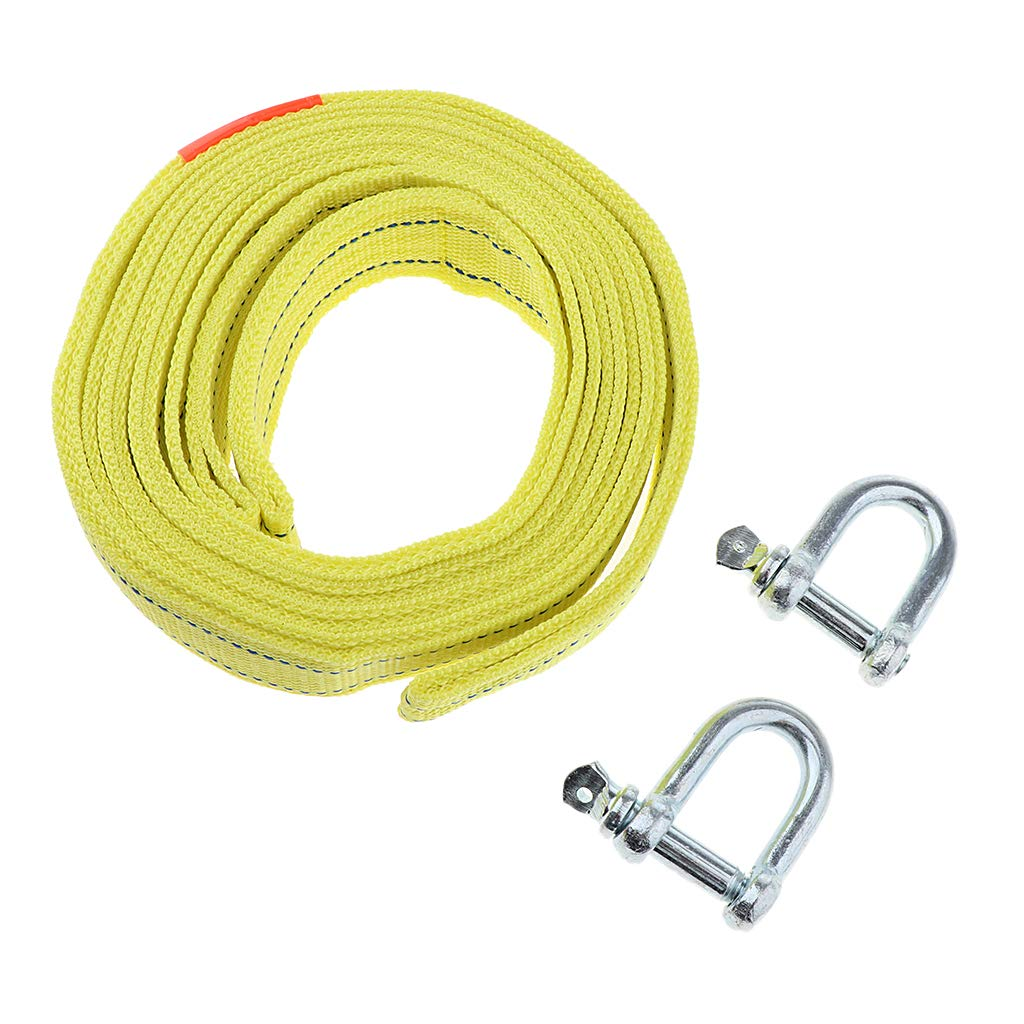 Protective Loops, 13ft Winch Snatch Strap Homyl Heavy Duty Tow Strap with Safety Hooks Tow Recovery Strap Recover Vehicle Stuck in Mud//Snow