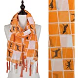 "Tennessee Plaid Scarf with ""Smokey"", Logo and Tassel"