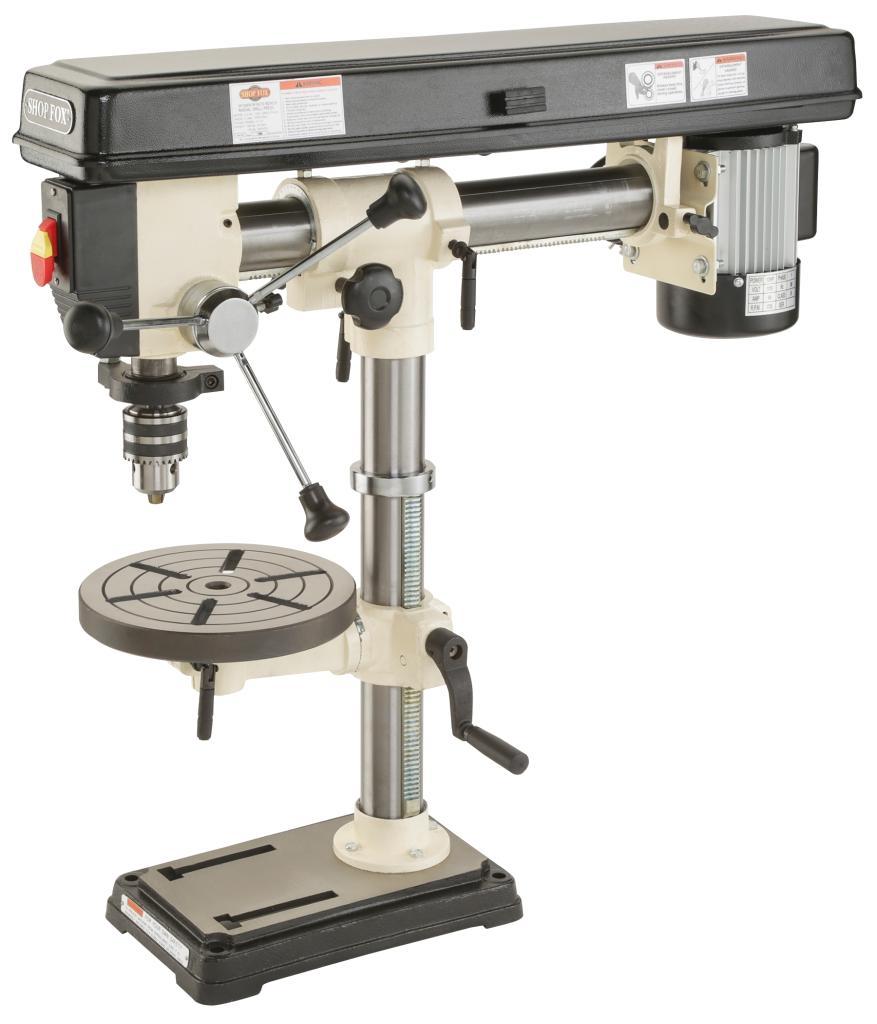 Shop Fox W1669 1 2 Horsepower Benchtop Radial Drill Press
