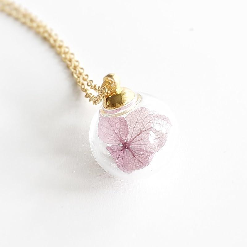 bridal jewelry real hydrangea pressed flower jewelry terrarium necklace hydrangea necklace bridesmaid necklace pressed flower frame